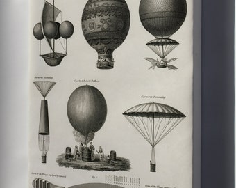 Canvas 16x24; Early Hot Air Balloons C1818