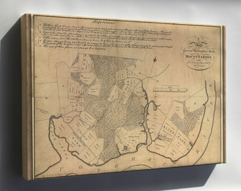 Canvas 16x24; Map Of Mount Vernon, Residence Of George Washington Made By Himself. C1801