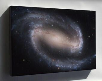 Canvas 16x24; Ngc 1300 Barred Spiral Galaxy Ngc 1300 Hst