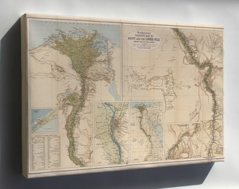 Canvas 16x24; Tourists Map Of Egypt And The Lower Nile 1897