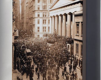 Canvas 16x24; Wall Street During The Bankers Panic Of 1907