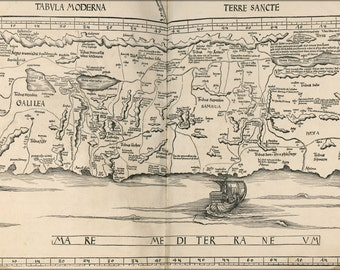 16x24 Poster; Map Of Israel 1513