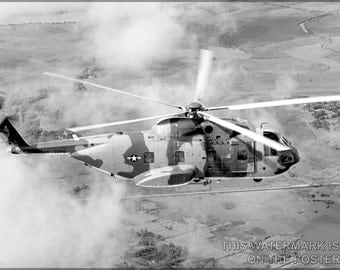16x24 Poster; Ch-3C Jolly Green Giant Helicopter Over Vietnam