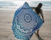 Round Beach Towel Beach Roundie Towel Round Beach Throw Mandala Tapestry Round Picnic Roundie Oversized Circle Towel