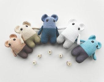 Kawaii Mouse Amigurumi - crocheted kawai animal