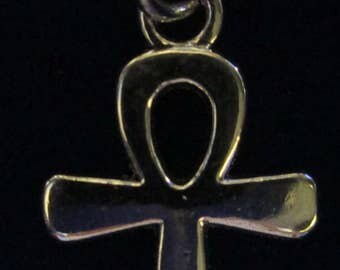 925 Sterling Silver Necklace with Egyptian Ankh Cross Necklace pendent