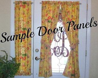 Sample Door Panels Custom Rod Pocket Front Door Entry Door French Doors