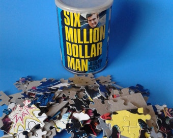 "Vintage Kenner Doll  "" Six Million Dollar Man Jigsaw Puzzle "" 1970's"