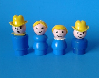 "Fisher Price Little People "" #915 Family Farm People "" 1970's"