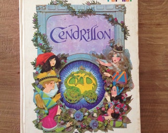 Rare Cinderella Pop Up Book Pop hop /Cendrillon/ hallmark 1968
