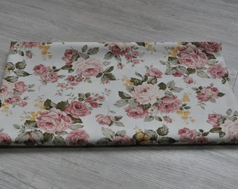 chinese flower Fabric 1/2 yard