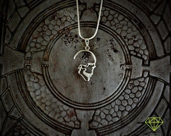Silver Skull Pendant, Skull Necklace,  Sterling Silver pendant, Mens Jewelry, Hand Made pendant
