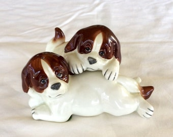 Vintage Quon Quon Puppy Salt and Pepper Shakers
