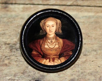 Tudor Queen ANNE of CLEVES Pendant or Brooch or Ring or Earrings or Tie Tack or Cuff Links