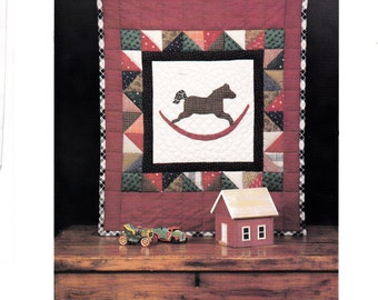 Toy Horse Primitive Quilt Wall Hanging Pattern 29 inches by 24 inches