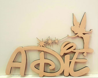 Magic Fairy Childrens Wooden Name custom Sign Unpainted