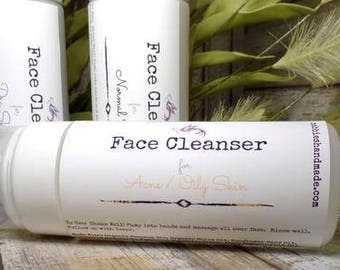 Acne Face Wash - Acne - Foaming Soap - Cleanser - Natural Skin Care - Organic Skin Care - Acne Cleanser - Natural Cleanser - Acne Treatment