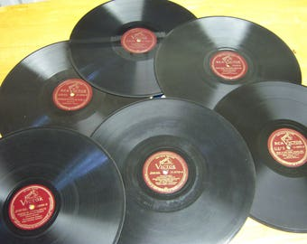 vinyl records,Red Seal Records,Victor,Columbia Masterworks,Cole Porter,Ray Sonatra,vintage music,waltz records,1948,music collector