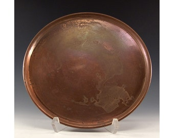 Vintage 9 3/8 inch Round Copper Tray