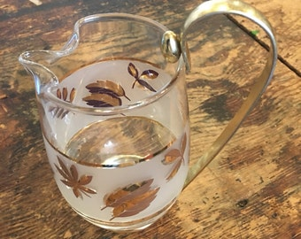 Libby Gold Leaf Martini Pitcher