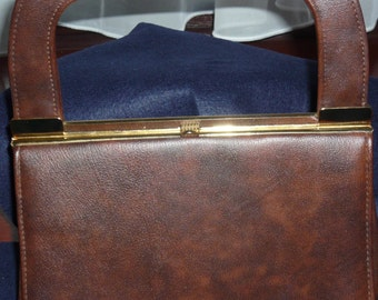 1960's Brown Vinyl Handbag