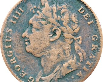 1822 United Kingdom George IV One Farthing Coin