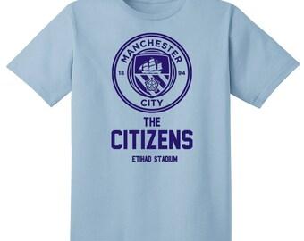 Manchester City The Citizens T Shirt Soccer England Football