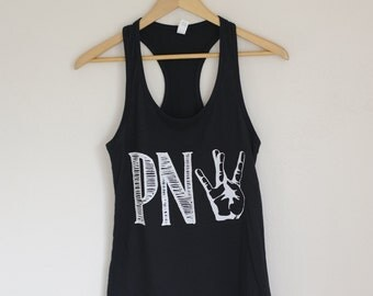 SALE!! PNW Westside Screen Printed Womens Racerback Tank