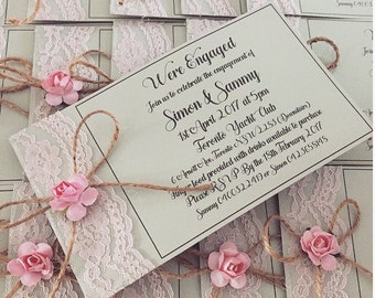 We're Engaged invitations  (set of 80 cards)