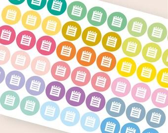 54 calendar stickers, student stickers, college planner stickers, school test exam homework quiz read eclp filofax happy planner kikkik