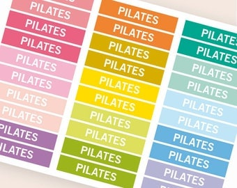Pilates Heading stickers, planner header stickers, planner stickers, agenda notebook journal stickers, reminder fitness