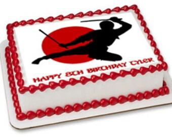 Ninja edible cake toppers, ninja edible cake image, ninja birthday, ninja party, ninja cupcakes, ninja cupcake toppers, ninja cake topper