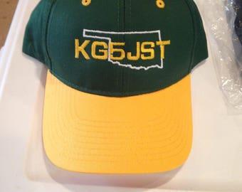 Ham Radio Hat / Amateur Radio Hat / Callsign Hats   structured hats    FONT3