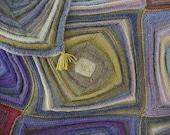 Circus - knitted Merino reversible quilt