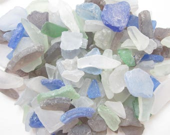Mixed Colors Sea Glass-Tumbled Beach Glass- Sea Glass- Man Made Beach Glass-Beach Home Decor-Sea Glass Bulk-Beach Glass Pieces-Beach Glass
