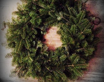 "24"" Christmas Wreath ~ Balsam Fir ~ Fresh~ Maine Made ~Shipping Included"