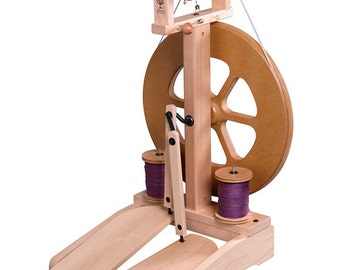 Ashford Kiwi-2 Spinning Wheel - Clear Finish - FREE Shipping