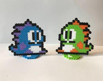 Bubble Bobble Perler Bead Sprites