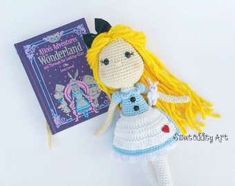 Alice in wonderland, alice crochet pattern, crochet alice, crochet pattern, alice in wonderland crochet pattern, amigurumi