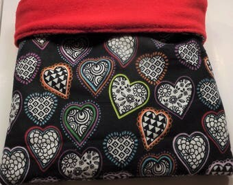 FREE SHIPPING Hearts snuggle bag, guinea pig cuddle cup, ferret sleeping bag, hedge hog snuggle sack, rat bag, snuggle sack