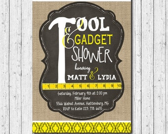 Tool & Gadget Shower Invitation printable/Digital File/honey do shower, honey do bqq, tool party, handyman, groom/Wording can be changed