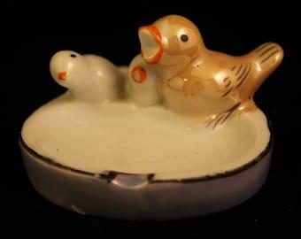 Ashtray Vintage Porcelain Bird Cigarette Ashtray Japan