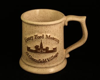 Henry Ford Museum and Greenfield Village Vintage Stoneware Mug Tankard