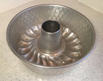 Hammered Aluminum Tube Pan, Bundt Cake or Jello Mold