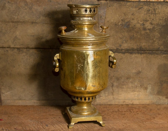 Antique Russian Samovar Tea Pot Coffee Pot Hot Water