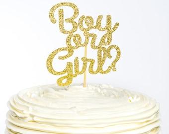Boy or Girl Cake Topper, Boy or Girl Topper, Baby Shower Cake Topper, Gender Reveal, Cake Topper, Gender Reveal Cake Topper, Baby Shower