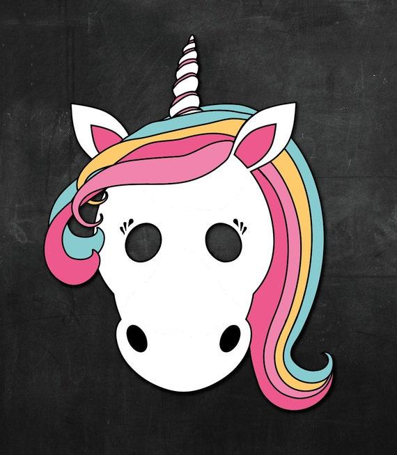 Ambitious image for printable unicorn mask