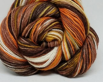 """Hand-dyed  BFL 3 ply yarn Sock Weight """"a View """""""