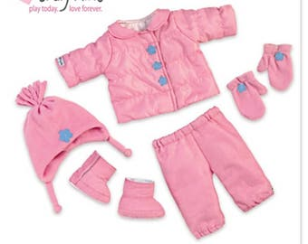 Ashton Drake 15'' baby doll cloths - Snow Adorable Accessory Set / So Truly Mine Accessories