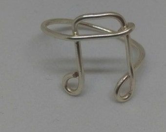Silver Musical note ring